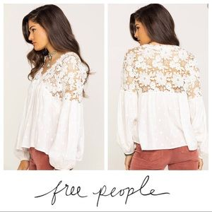 $118 NWT Free People Lina Lace Ivory